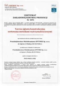 Certyfikat-Tartak-Optymex